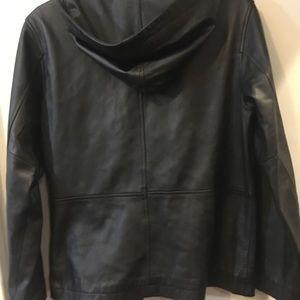 Exc. Gap Hooded Leather Jacket
